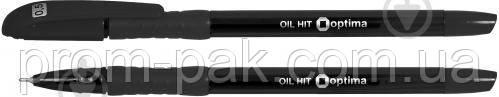 Ручка масляна Oil-hit чорна О15630, фото 2