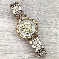 Forsining Gold-White Flower Diamonds Женские часы наручные механические с автоподзаводом