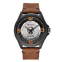 Curren 8305 Black-Brown Мужские наручные часы кварцевые кожа черные