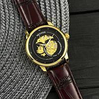 Winner Gold-Black-Beige Мужские наручные часы механические с автоподзаводом