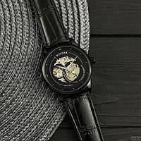 Winner All Black Мужские наручные часы механические с автоподзаводом