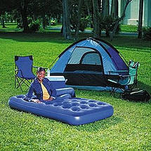 Матрас надувной одноместный Flocked Air Bed Bestway 67001, фото 2