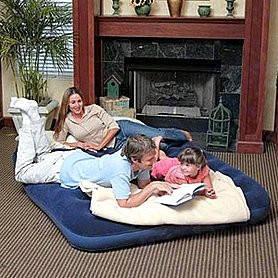 Надувной велюровый матрас двухспальный Bestway 67003, фото 2