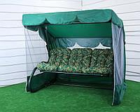 Качель садовая РИО (зеленый каркас)