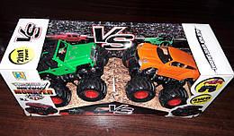 Набор Внедорожники Big Foot Monster зеленый и оранжевый. Maya Toys KLX500-5