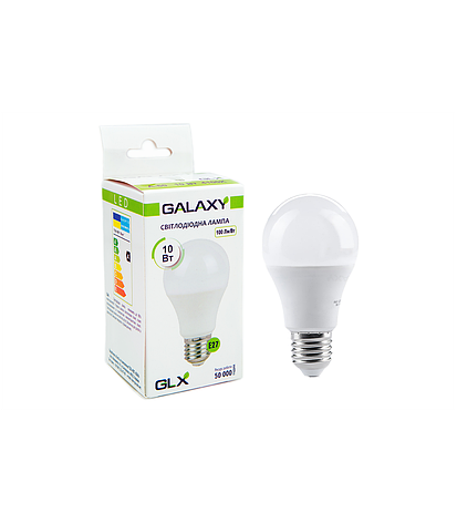 Светодиодная лампа 10W E27 A60 4100K GLX, фото 2