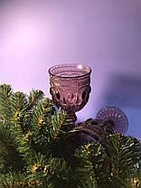 Бокал для вина из розового цветного стекла Каир 250 мл, фото 3