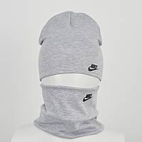 Трикотажный комплект Nike(реплика) оптом св.серый