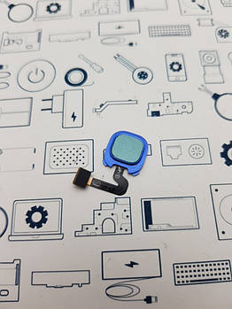 Сканер отпечатка пальца Samsung A9 (2018) SM-A920F синий Сервисный оригинал с разборки