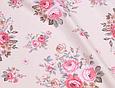 Сатин (хлопковая ткань) розы розово-бежевые (новые) (85*160), фото 2