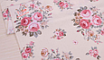 Сатин (хлопковая ткань) розы розово-бежевые (новые) (85*160), фото 3