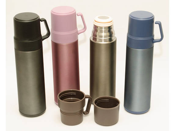 Термос 600 мл висока якість (2 чашки, фото 2