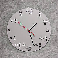 Настенные часы для кабинета математики Девятки