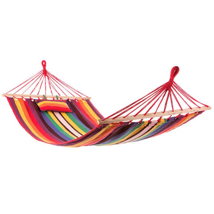 Гамак подвесной с подушкой 250*100 см с планками