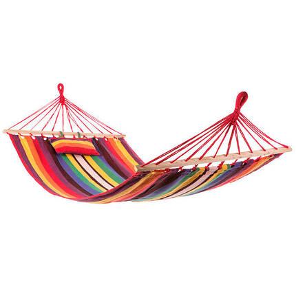 Гамак подвесной с подушкой 250*100 см с планками, фото 2