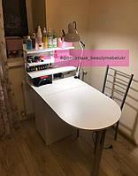 Маникюрный складной столик с полочками для лаков 1
