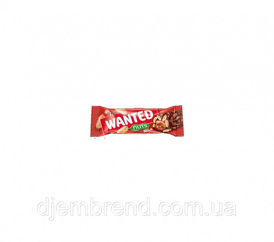Шоколадный батончик Wanted Nuts milk ETi , 45 гр