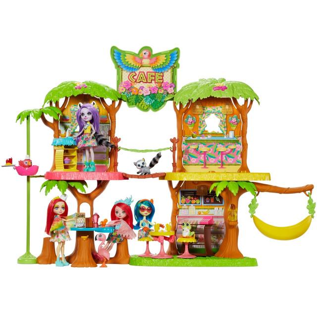 Набор игровой Enchantimals Джунгли-кафе 50 см Enchantimals Кафе Джанглвуд Папужки Пікі (GNC57)