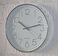 """Годинник настінний """"Quarts silver"""" (30 см), фото 1"""