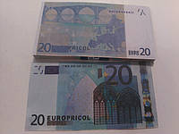 Купюра сувенирная 20 евро