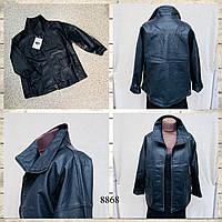 Куртка женская эко-кожа размер 44-48, черного цвета