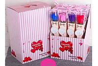 Роза из мыльного раствора подарок для любимых женщин люкс упаковка