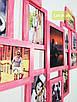 """Мультирамка Lot 812 """"сердце"""", дерево, розовый """"винтаж"""", венге, бесцветный, белый, чёрный, орех, серый., фото 2"""