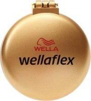 Расческа для волос с зеркальцем Wellaflex золотая