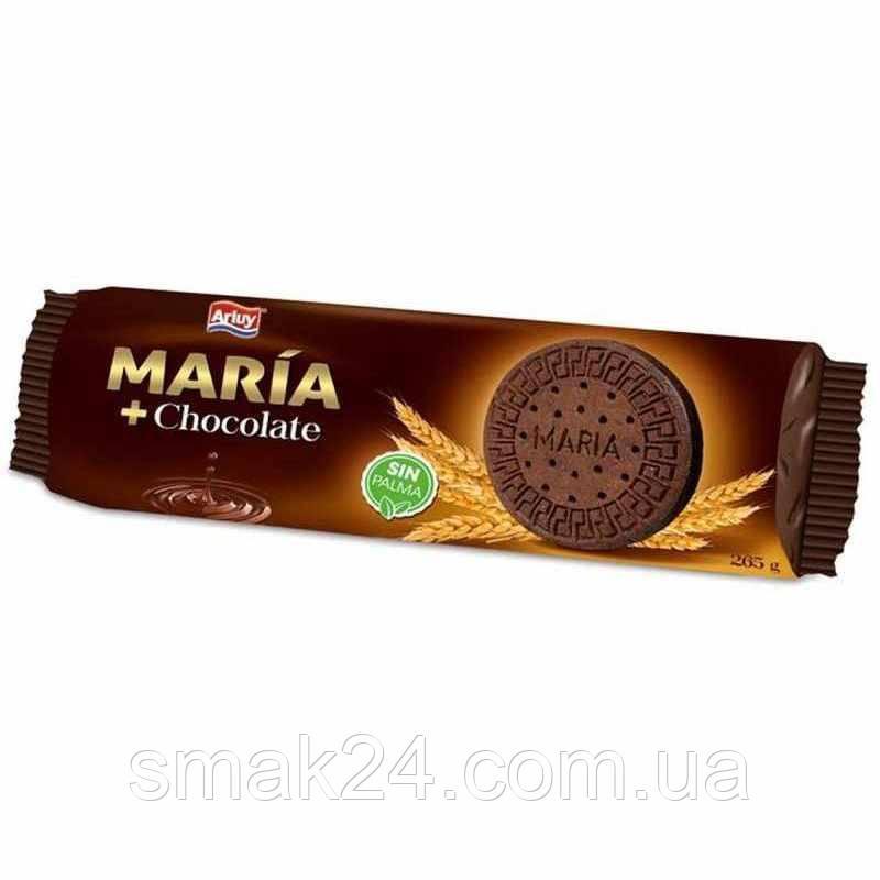 Печенье без пальмового масла шоколадное MARIA Arluy 265г  Испания
