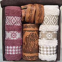 """Подарочный набор с 2 полотенцами и Флягой """"Медведь"""" 500 мл, фото 1"""