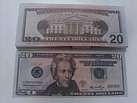 Купюра сувенирная 20 долларов