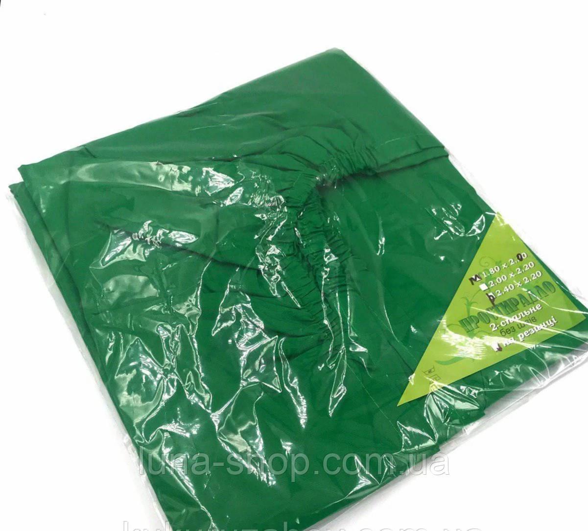 Простынь на резинке зеленая из бязи, любые размеры, с наволочками и без