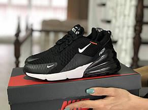 Женские кроссовки Nike Air Max 270,сетка,черно-белые, фото 2