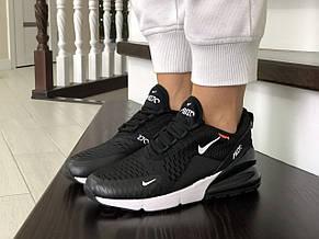 Женские кроссовки Nike Air Max 270,сетка,черно-белые, фото 3