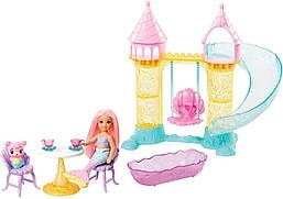 Кукла Барби Дримтопия сестра Челси Замок русалочек Barbie Dreamtopia Mermaid Playground Playset