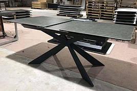 Стол обеденный раскладной с керамической столешницей Oregon Dark ceramic  (Орегон) T7065  Evrodim