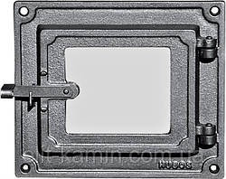 Печные дверцы со стеклом Halmat DPK17 (Н1625) (240х275)