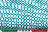 Ткань с сеткой из лепестков зелёно-бирюзового цвета (№224а), фото 2