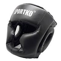 Боксерский шлем-маска SPORTKO кожвинил