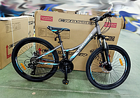 """Велосипед для подростков Crosser Nio Stels 24"""" Серо-синий"""