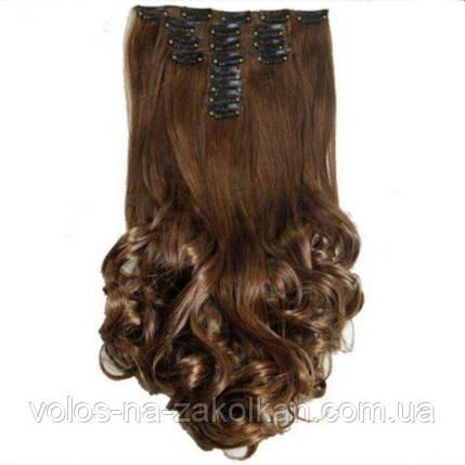 Волосы на заколках волнистые темно русый, фото 2