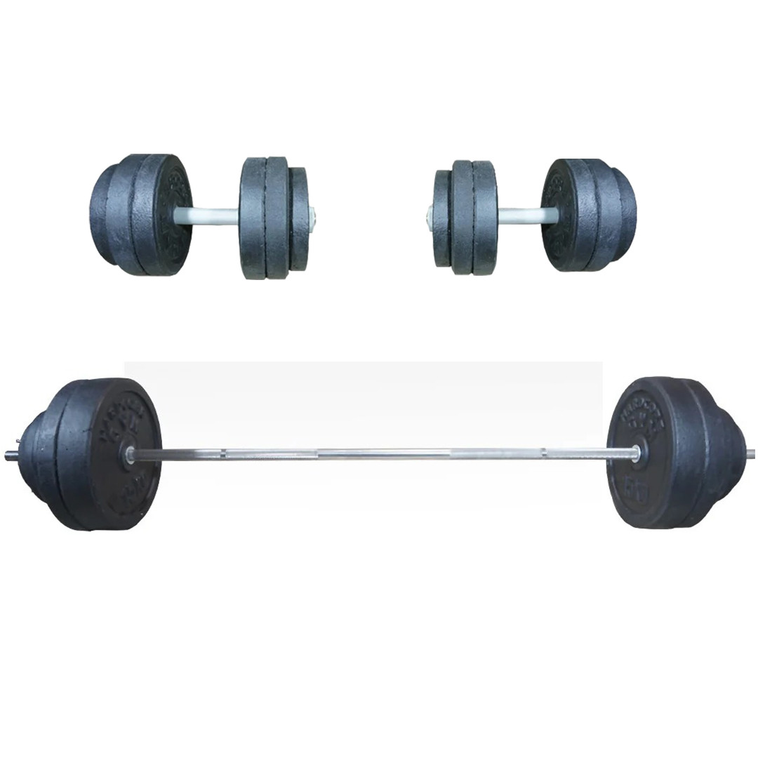 Комплект 108 кг | Штанга наборная 1.8 м прямая + Гантели 35 см разборные набор для дома