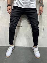Мужские зауженные джинсы (черные) - Турция