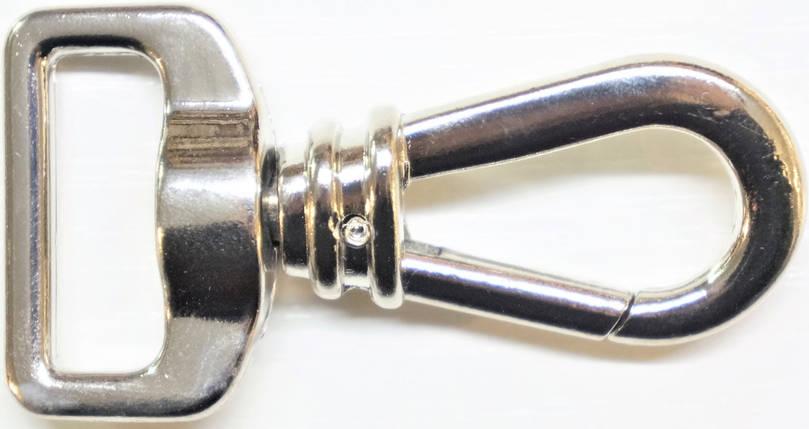 Карабін 5971 світлий нікель 2,5см, фото 2