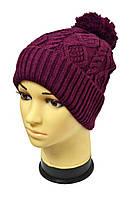 Зимняя молодежная шапка с широким отворотом