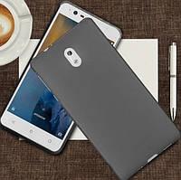 Силиконовый чехол для Nokia 1 черный