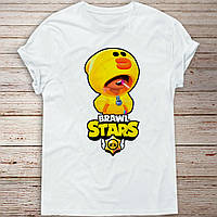 Детская футболка Бравл Старс Леон Утка Салли (Brawl Stars Leon Sally)