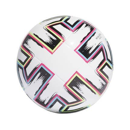 Мяч футбольный Adidas Uniforia League Jr 350g Euro 2020 №5 FH7357 Белый, фото 2
