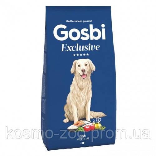 Сухой корм Gosbi Exclusive Fish Medium, с рыбой для собак средних и крупных пород, 12 кг
