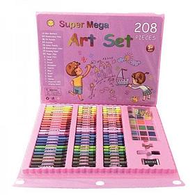Набор для рисования с мольбертом Just Amazing в чемоданчике (208 предметов) Синий Розовый